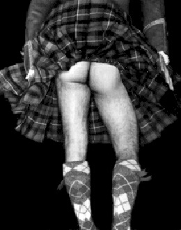 scotsman wears kilt